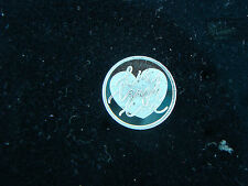 Live Laugh Love  1 Gram .999 Pure Silver Round Coin Bar  Encouragement Gift