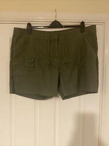 South Khaki Linen Shorts Size 22