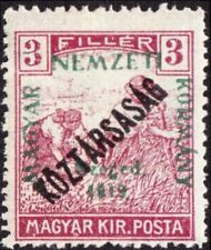 Hungary - Szeged Issue - 1919 - 3f Red Lilac w/ Green + Black Overprints  #11N20