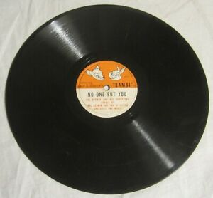 BAMBI - WALT DISNEY 78 rpm Record - HAL DERWIN - Love Is a Song + NO ONE BUT YOU