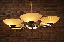 50er VINTAGE DECKENLAMPE Mid Century LEUCHTE LAMPE 50s LAMP XXL Kronleuchter