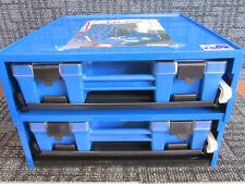 Fischer Plastics Ezi-Pak Module Frame with 2 Blue Carry Cases with Clear Lids