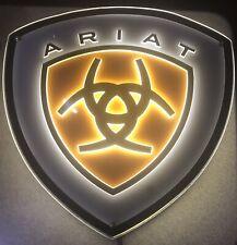 "Ariat ""Horseshoe Shield"" Artlite LIGHT UP Plexiglass Store Display Sign + Bulb"