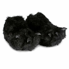 Paw Novelty Slippers black Claws adults children rubber sole mules animal