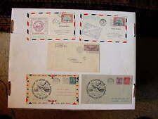 Lot Of 5 COVERS ~ US Air Mail Airport Dedications ~ Fine/VeryFine