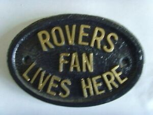 TRANMERE ROVERS  FAN FOOTBALL PLAQUE SIGN