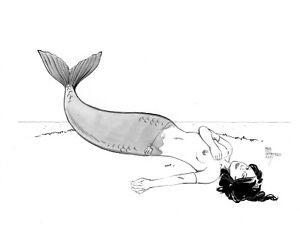Sexy Mermaid pin up original  art  by Paradis