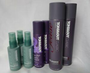 7 x TONI & GUY SALON 100ml Hairspray 250ml Shampoo 75ml Sea Salt Spray Free Post