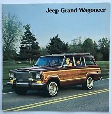 1985 Jeep Grand Wagoneer 12-page BIG Original Car Sales Brochure Catalog