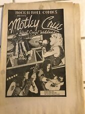 Original Rare 89' Rock-N-Roll Mötley Crüe Black&White West Coast Wildmen Comic