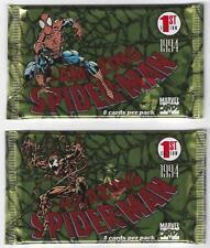Lot 1994 Marvel Cards 1st Edition Amazing SpiderMan Sealed Unopened 2 Packs
