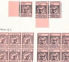 Ap273 1895 GB WALES *Corris Railway Co* Newspaper Parcel Private Stamps{21} Page