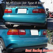 TR Style Rear Bumper Lip (Urethane) Fits 92-95 Honda Civic 3dr