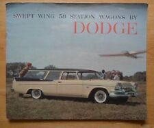 DODGE STAZIONE VAGONI ORIG 1958 USA inchiostri SALES BROCHURE-CUSTOM Sierra Suburban
