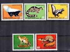 Animaux Faune sauvage Bulgarie (3) série complète 5 timbres oblitérés