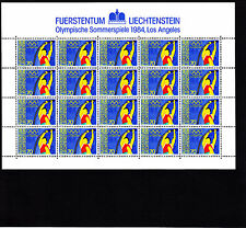 Liechtenstein Jeux Olympiques Los Angeles  70 r   feuille 20 TP n° 787