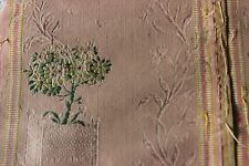Antique French 18thC (1760-1790) Brocaded Silk Peach Textile Fabric~Collectors