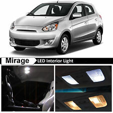 2014-2016 Mitsubishi Mirage White Interior LED Lights Package Kit