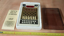 Vintage Acetronic Travel Chess Computer Set 1978 - Red LED Display