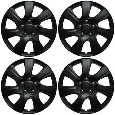 """4 Pc Set of 16"""" Matte Black Hub Caps Rim Cover for OEM Steel Wheel - Covers Cap"""