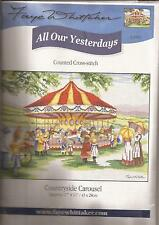 """Counted Cross Stitch All Our Yesterdays Countryside Carousel 11"""" x 17"""" (076-09)"""