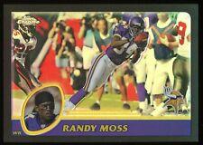 2003 Topps Chrome Black Refractor #123 Randy Moss /599