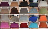 SMALL X EXTRA LARGE THICK RUNNER 5cm HIGH PILE PLAIN SOFT NON-SHED SHAGGY RUGS