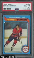 1979 Topps Hockey #243 Rick Chartraw Montreal Canadiens PSA 10 GEM MINT