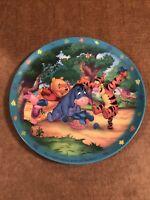 Winnie The Pooh Plastic Kids Plate Eeyore Tigger
