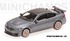 Minichamps 870027100 - BMW M4 GTS – 2016 – Mat Gris W / Orange Wheels