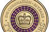 2013 Australian Two Dollar $2 coin - PURPLE Queens Coronation - Circ Scarce