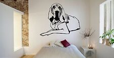 Wall Room Decor Art Vinyl Sticker Mural Decal Dog Animal Bloodhound Right FI132
