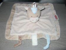 doudou cheval beige marron bleu croix nattou