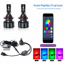 Pair H8 H9 H11 72W 80000LM Car LED RGB Headlight Kit Bluetooth Control Bulb Set