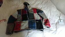 """Népal Femmes laine à capuche entièrement neuf sans étiquette 21"""" Pit à fosse entièrement doublé Taille M"""