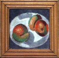 """Russischer Realist Expressionist Öl Pappe """"Äpfeln"""" 15x15 cm"""