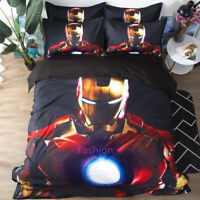 Iron Man Pillowcase Quilt/Doona/Duvet Cover Set Single/Double/Queen/King Bed