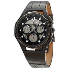 Bulova 98D152 Men's Curv Diamond Chronograph Leather Strap 44mm Watch