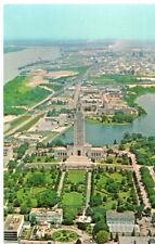 Baton Rouge LA, State Capitol & Formal Gardens in Panoramic View- Postcard