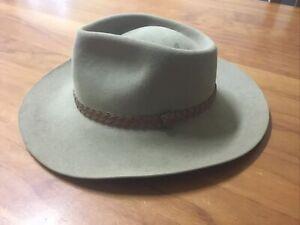 Vintage Akubra Genuine 100% Pure Fur Felt Hat S:59