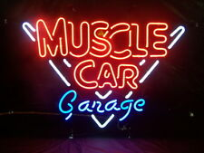 "New Muscle Car Garage Neon Light Sign 20""x16"""