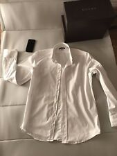 GENUINE DOLCE GABBANA MENS WHITE FITTED SHIRT SIZE: XL COST £230 NEW