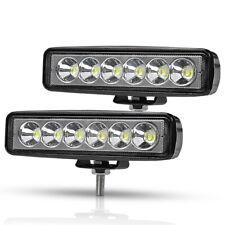 6 inch LED Work Light Bar Spot Flood Offroad Fog Driving Lamp Truck SUV Boat ATV