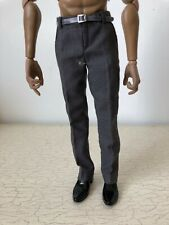 1:6 Gray Trousers with belts Pants Business Casual F 12'' Figure Accessories Toy