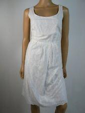 Tahari ASL Cocktail Career White Embroidered Eyelet Sheath Dress 10 NEW T367