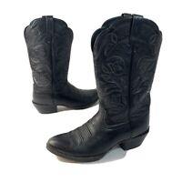 ARIAT Women's Heritage Western R-Toe Boots Black Deertan Size  7 B