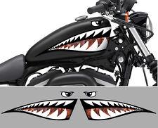 2 X DENTS REQUIN SHARK CHOPPER RAT'S 50cm AUTOCOLLANT STICKER MOTO BIKER SA153