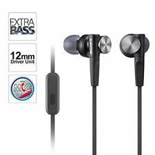SONY EXTRA BASS Stereo Headphones-MDRXB50AP - Hands Free Phone Calls-BLACK - NOB