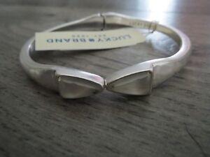 Lucky Brand silver tone white stone bracelet, NWT