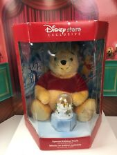 Disney Store Exclusive Special Edition Holiday Pooh With Bonus Snow Globe
